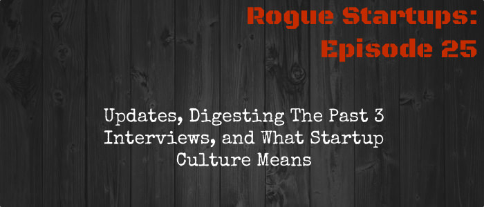 RS025:  Updates, Digesting The Past 3 Interviews, and What Startup Culture Means